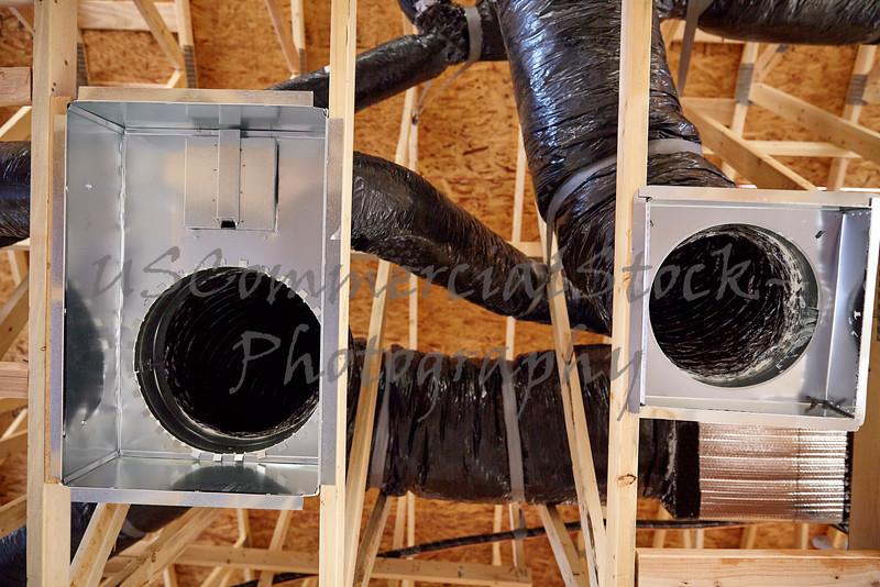 Construction home building return air duct plenum hvac