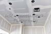 Construction building industry drywall taping interior open kitchen ceiling detail