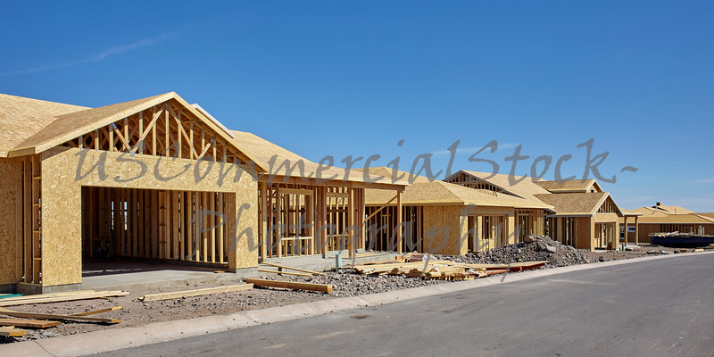 Home Building Industry in progress under construction concept photograph