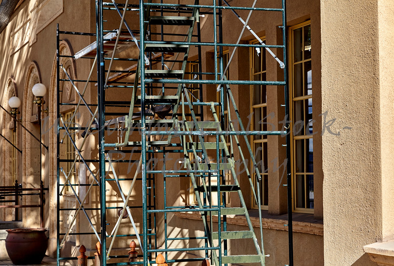 Construction Scaffolding on Front of Building