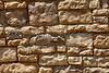 Red shelf sandstone ledge mortar rock wall