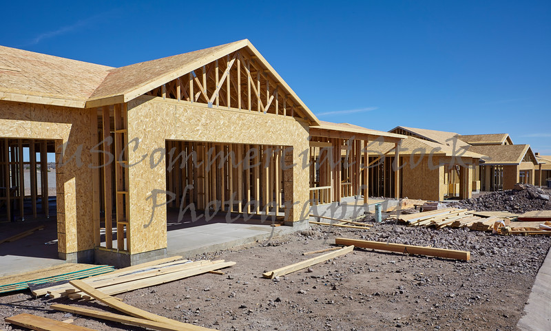 New housing project in progress construction industry