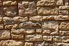 Red sandstone ledge mortar rock wall