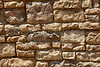 Red sandstone ledge mortar rock wall