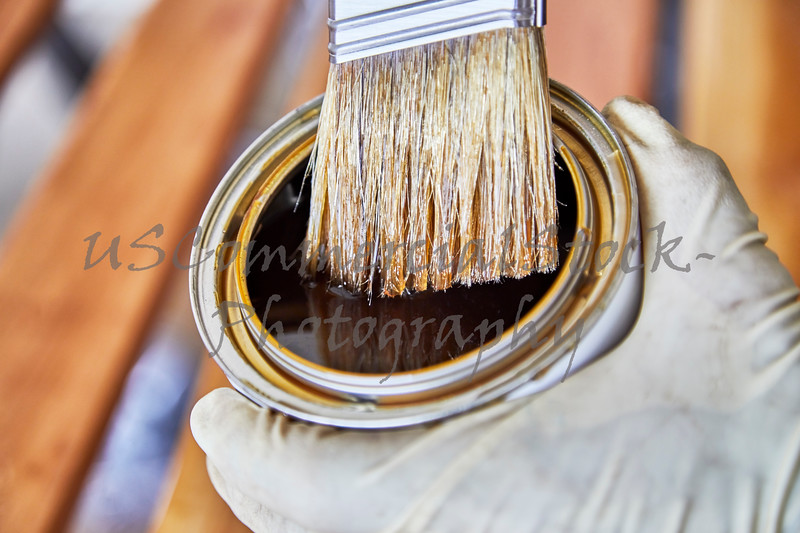Paint Brush in a Can of Wood Varnish