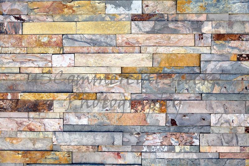 Stone veneer mineralized quartz rock ledge wall