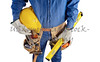 contractor construction carpenter man with tools on white