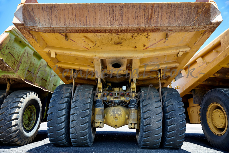 Heavy equipment mining dump truck suspension tires