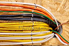 Construction building industry electrical branch circuit wiring closeup detail
