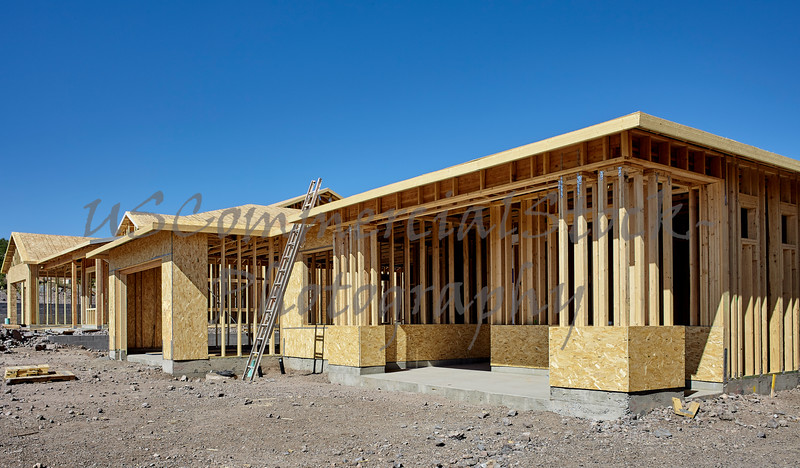 New housing project in progress construction building industry