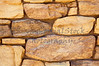 limestone rubble rock cliff ledge mortar wall