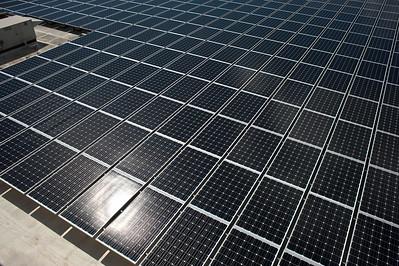 Part of the massive 2.4 megawatt solar array at Joint Base Pearl Harbor-Hickam, Hawaii.