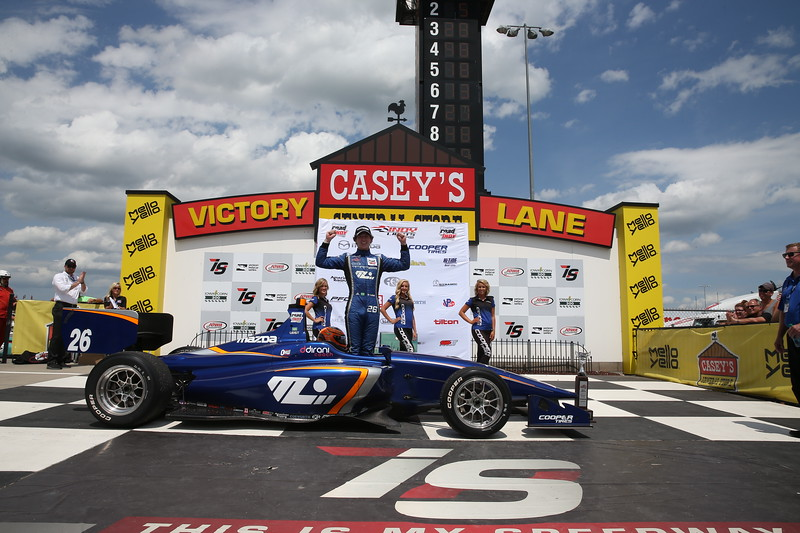 Leist puede convertirse en el primer piloto que gana el 100% de los eventos ovales desde que Andersen Promotions sanciona la Indy Lights (FOTO: Joe Skibinski/IMS Photo/Road to Indy)