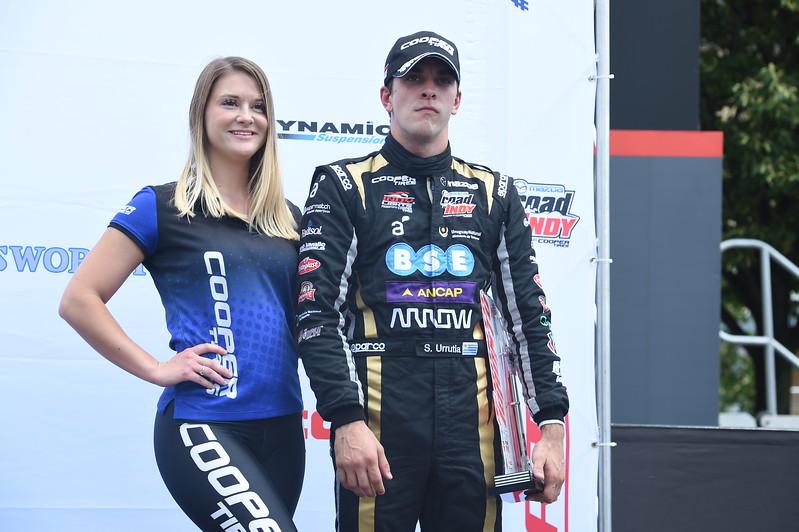 Aunque volvió a subir al podium, Urrutia no quedó contento por el panorama del campeonato (FOTO: Chris Owens/IMS Photo/Road to Indy)