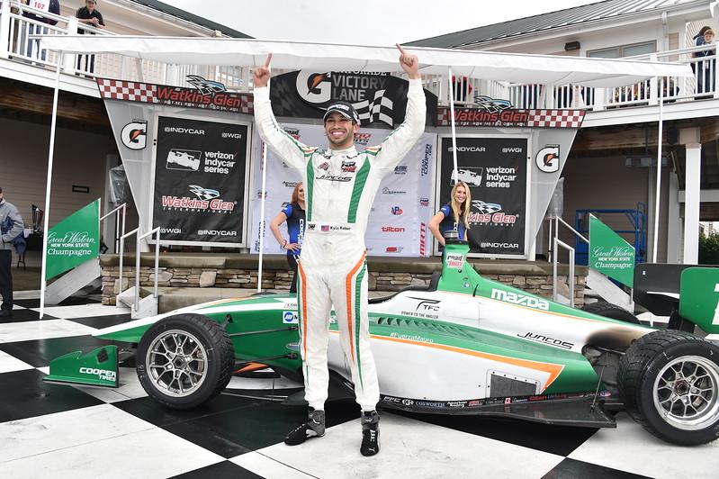 Kaiser sumó tres victorias, tres poles y ocho podiums en 2017; es miembro de Juncos desde 2014, cuando pilotó en Pro Mazda (FOTO: Chris Owens/IMS Photo)