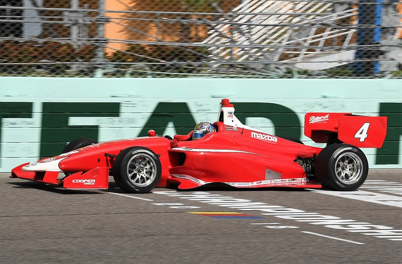 Claman DeMelo en las pruebas de Homestead (FOTO: Road to Indy)