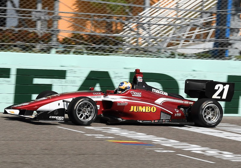 VeeKay en las pruebas en Homestead (FOTO: Road to Indy/IMS, LLC Photo)