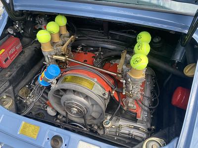 Air cooled flat six in a Porsche 911
