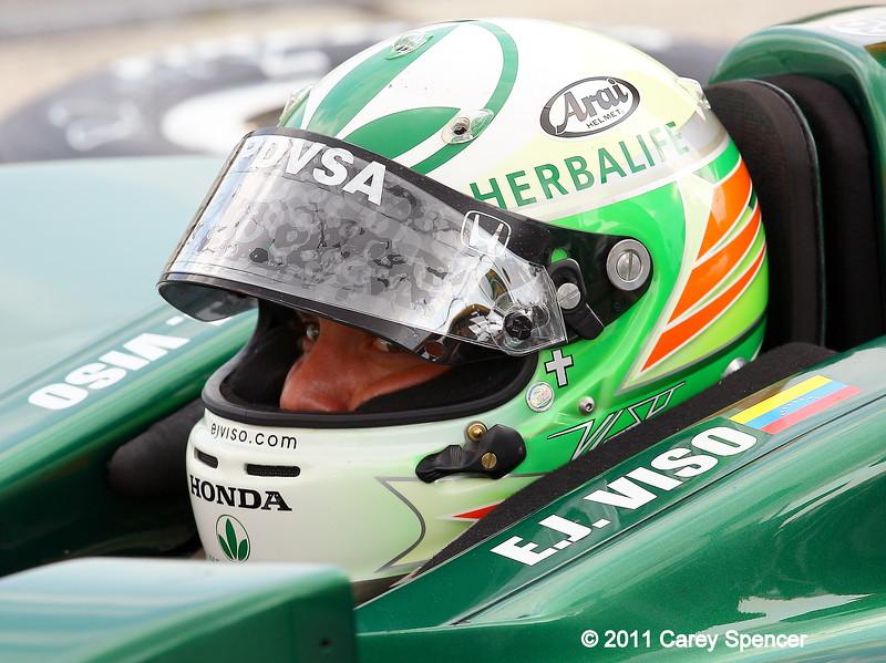 IndyCar driver EJ Viso practice for Honda Indy Grand Prix of Alabama