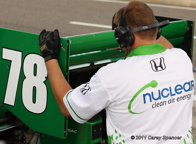 HVM Racing No 78 Simona de Silvestro Adjustment During Practice