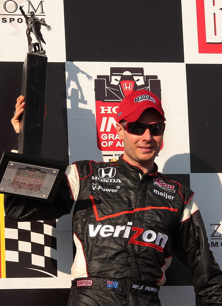 Will Power with Champion's Trophy