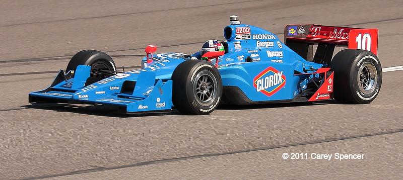 Dario Franchitti No. 10 on track Barber