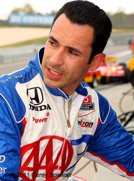 Helio Castroneves post practice