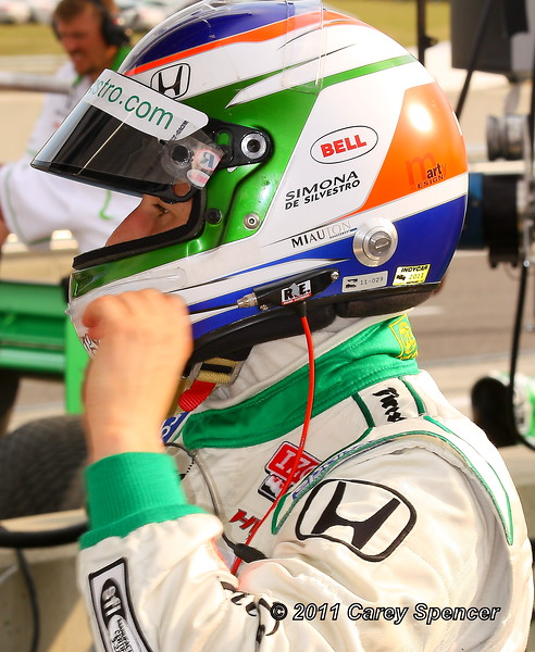 Simona de Silvestro Out of Car After Fridays Practice Barber Motorsports P