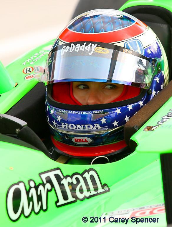 Danica Patrick practice at Barber Motorsports Park