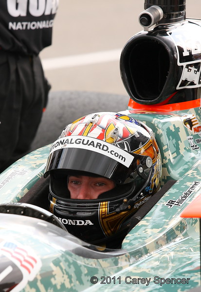 Panther Racing National Guard No. 4 JR Hildebrand practices for the Honda Indy Grand Prix of Alabama