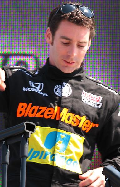 Dreyer and Reinbold Racing Simon Pagenaud AKA Jean Garrard fro Talladega Nights finished 8th at Barber