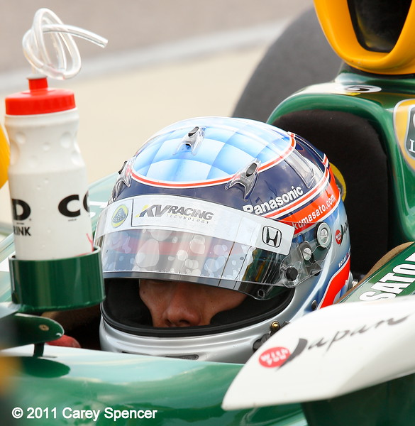 Takuma Sato practice Barber Motorsports Park