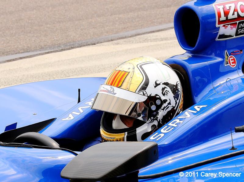 Oriol Servia practice at Barber Motorsports Park