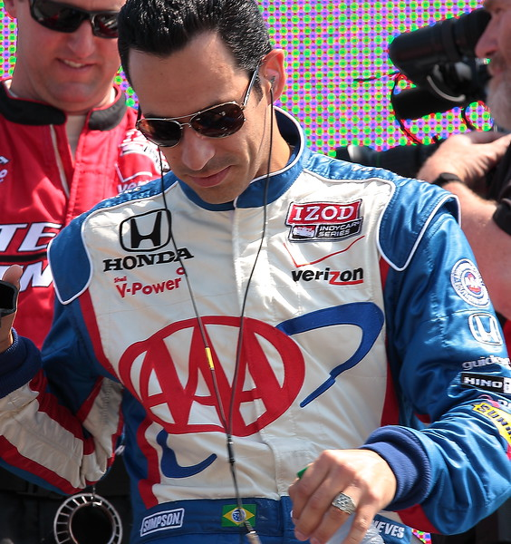 Team Penske Helio Castroneves finished 7th at Barber