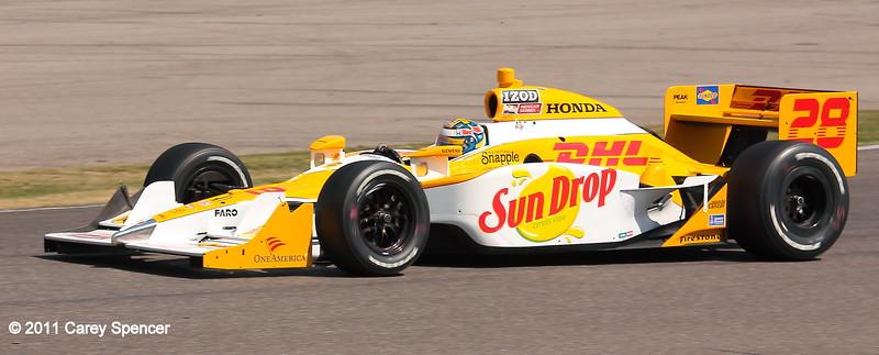 Ryan Hunter-Reay Andretti Motorsports No. 28 IndyCar at Barber