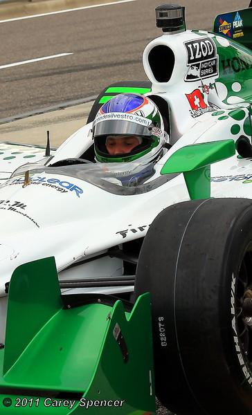 Simona de Silvestro at the Wheel of her No. 78 HVM IndyCar Barber Motorsports Park