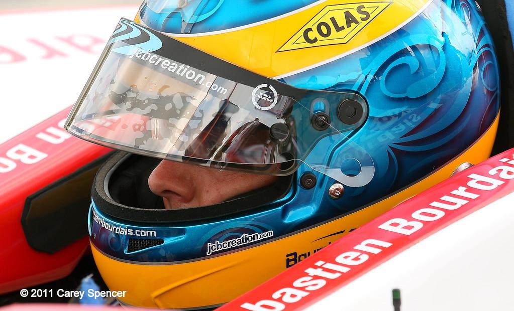 IndyCar driver Sebastain Bourdais at Barber Motorsports Park