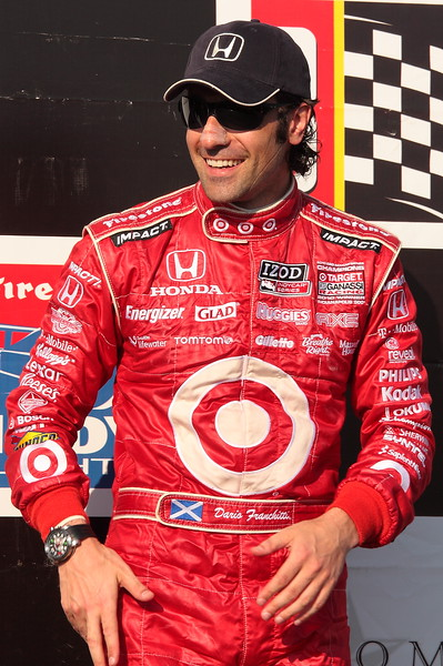 3rd Place Dario Franchitti on Podium Barber