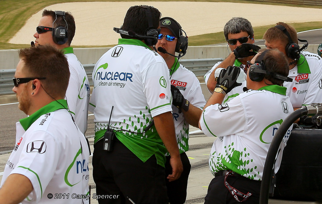 HVM Racing Nuclear Clean Air Energy Izod IndyCar Team at Barber Motorsports Park