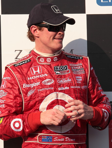 Scott Dixon 2nd Place at the Honda Indy Grand Prix of Alabama Looks on Podium