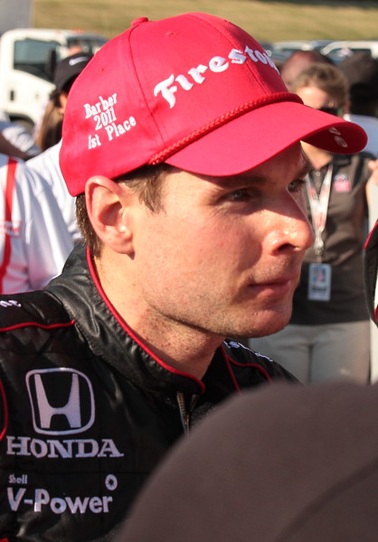 Will Power Victory Lane Barber Deep in Thought