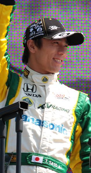 KV Racing Technology Lotus Takuma Sato finished 16th at Barber