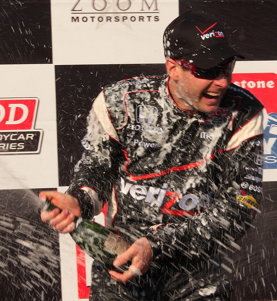 Will Power Champagne Shower after Barber Victory