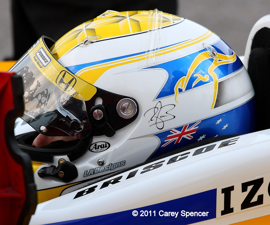 Ryan Briscoe practice Barber Motorsports Park