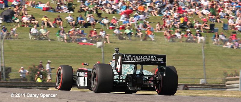 No. 4 JR Hildebrand Panther Racing National Guard IndyCar at Barber