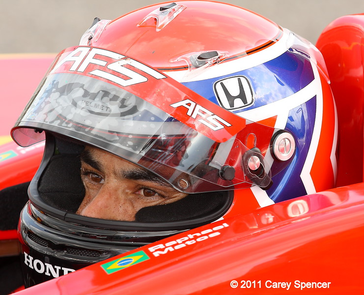 IndyCar driver Raphael Matos practice Barber Motorsports Park
