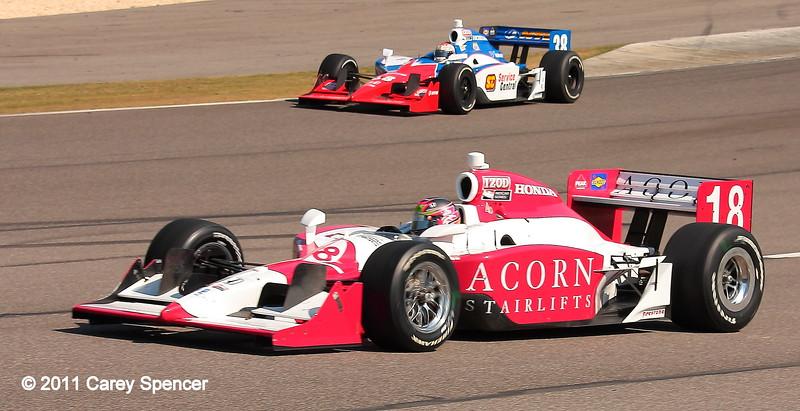 No. 18 Acorn Starlifts IndyCar enters track Barber