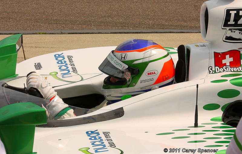 Simona de Silvestro Practice Before the Honda Indy Grand Prix of Alabama