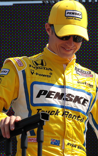 Team Penske Ryan Briscoe finished 21st at Barber due to Contact