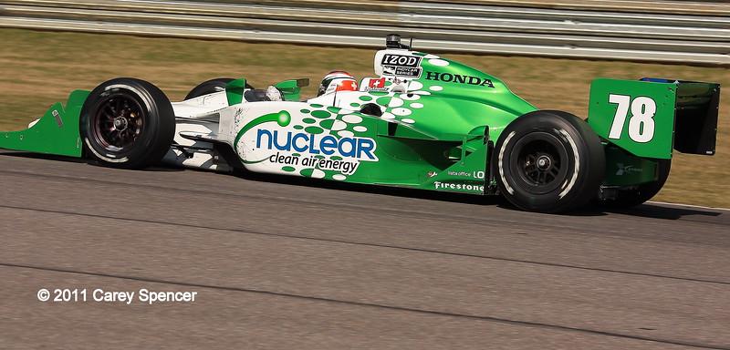Simona de Silvestro No. 78 Nuclear Clean Air Energy HVM Racing IndyCar Barber